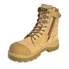 Wide Load 890WZ 20cm Steel toe Zip Lace Up Boot